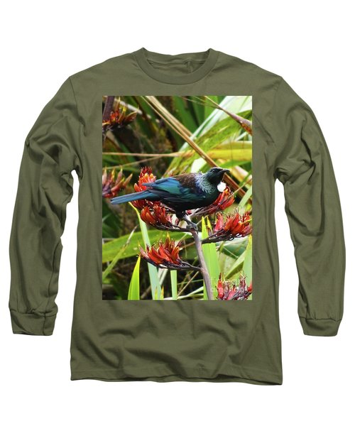 Tui In Flax Long Sleeve T-Shirt by Angela DeFrias