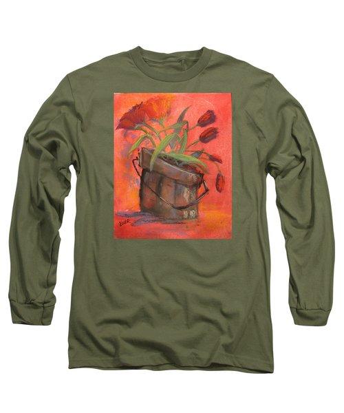 Tulip Bucket Long Sleeve T-Shirt by Terri Einer