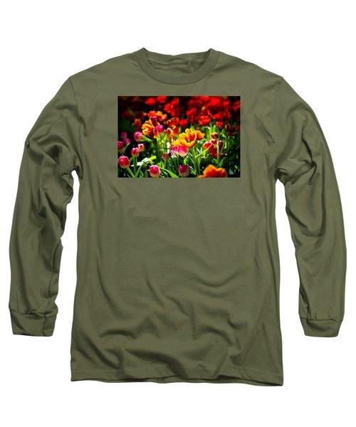 Long Sleeve T-Shirt featuring the photograph Tulip Flower Beauty by Alexander Senin