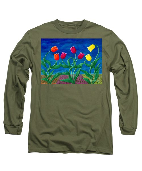 Tulip Tango Long Sleeve T-Shirt by Rebecca Parker