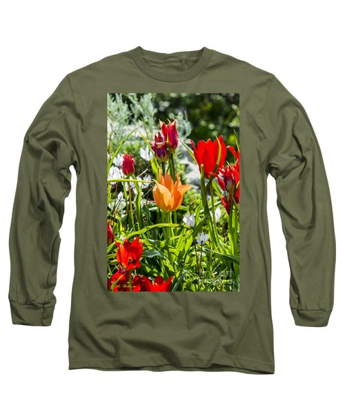Long Sleeve T-Shirt featuring the photograph Tulip - The Orange One by Arik Baltinester