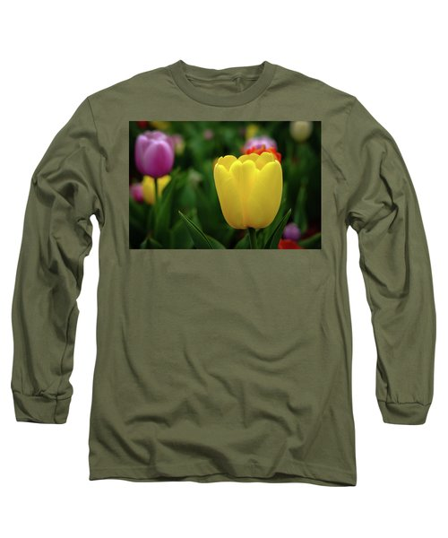 Tulips At Campus Long Sleeve T-Shirt