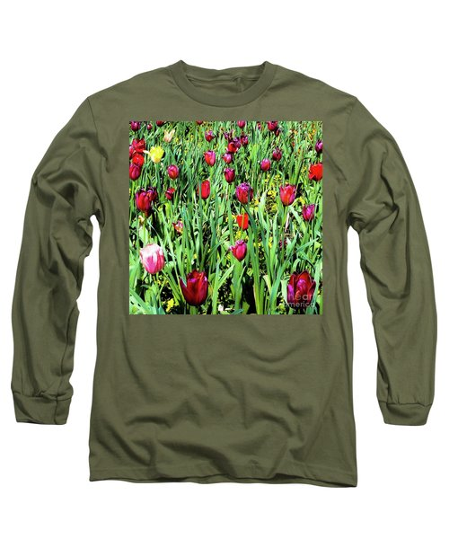 Tulips Blooming Long Sleeve T-Shirt