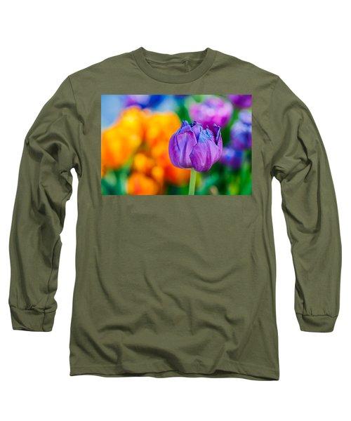 Long Sleeve T-Shirt featuring the photograph Tulips Enchanting 46 by Alexander Senin