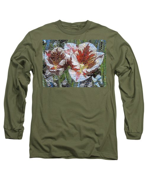Tulips In Springtime Photomosaic Long Sleeve T-Shirt