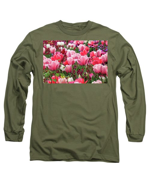 Long Sleeve T-Shirt featuring the photograph Tulips by James Eddy