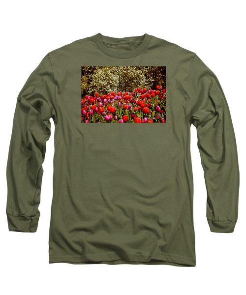 Long Sleeve T-Shirt featuring the photograph Tulips by Milena Ilieva