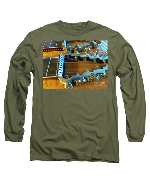 Tuning Pegs On Sho-bud Pedal Steel Guitar Long Sleeve T-Shirt