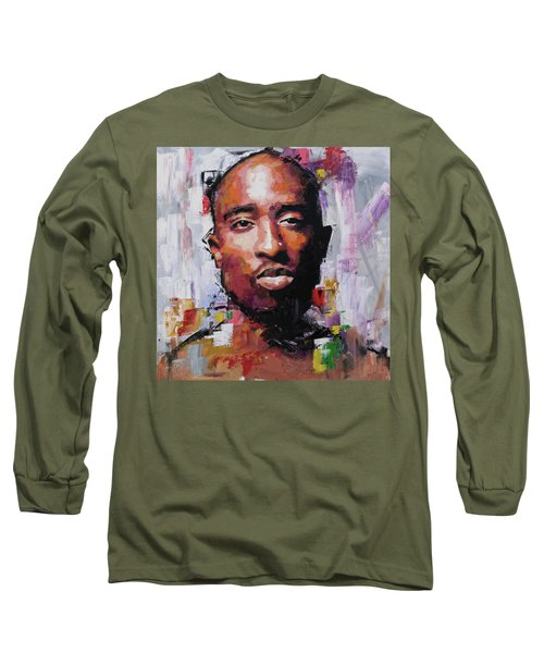 Tupac Long Sleeve T-Shirt by Richard Day