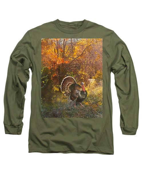 Turkey In The Woods Long Sleeve T-Shirt