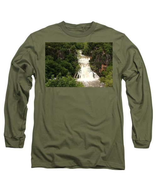 Turner Falls Waterfall Long Sleeve T-Shirt