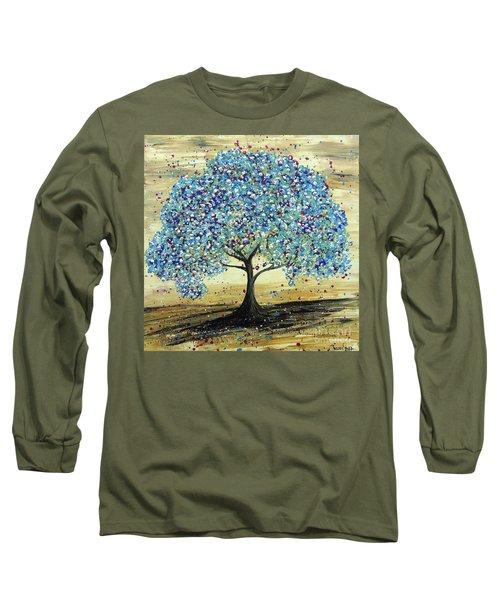 Turquoise Tree Long Sleeve T-Shirt
