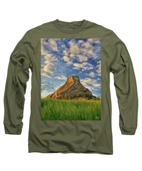 Turtle Rock Long Sleeve T-Shirt by Endre Balogh