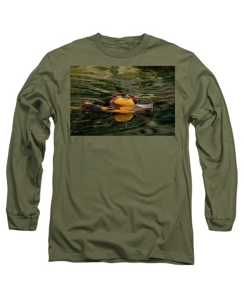 Turtle Taking A Swim Long Sleeve T-Shirt