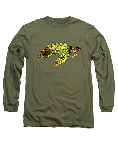 Turtle Talk Long Sleeve T-Shirt by Candace Ho