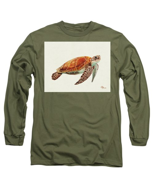 Turtle Watercolor Long Sleeve T-Shirt