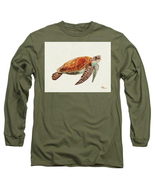 Turtle Watercolor Long Sleeve T-Shirt