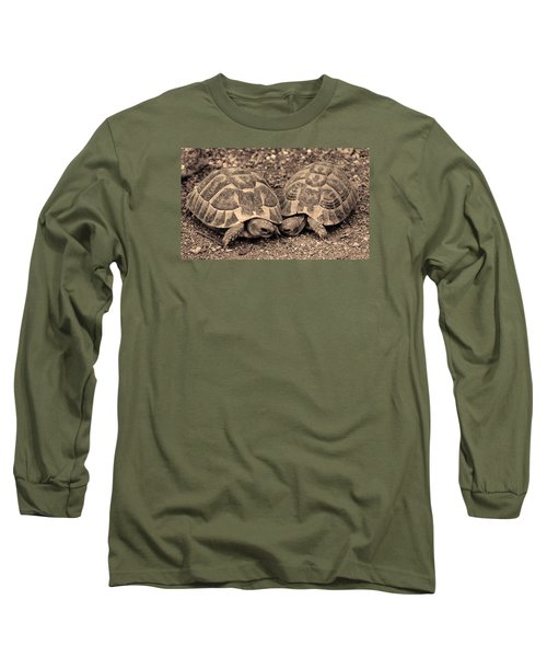Long Sleeve T-Shirt featuring the photograph Turtles Pair by Gina Dsgn
