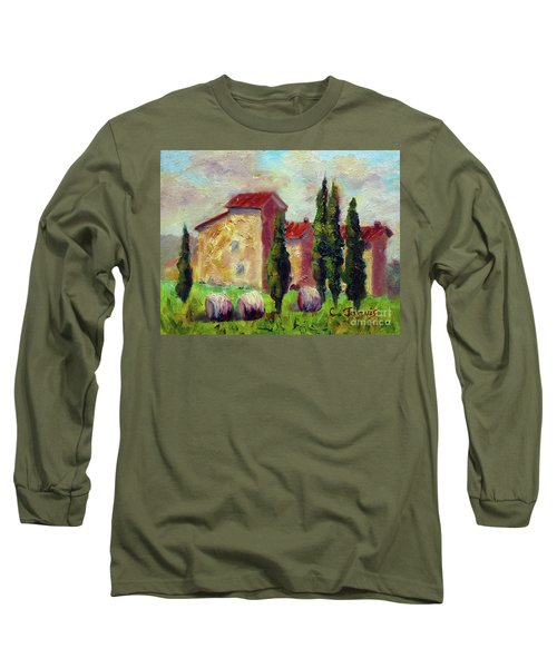 Tuscan House With Hay Long Sleeve T-Shirt