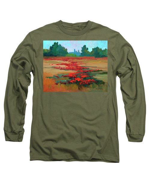 Tuscany Poppy Field Long Sleeve T-Shirt by Diane McClary