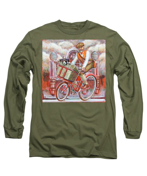 Tweed Runner On Red Pashley Long Sleeve T-Shirt by Mark Jones