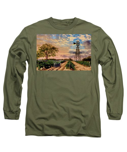 Twilight At The Vineyard Long Sleeve T-Shirt