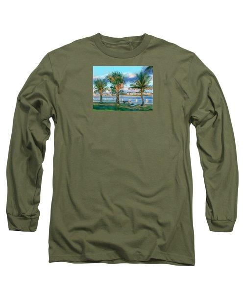 Twilight On Saw Fish Bay Long Sleeve T-Shirt