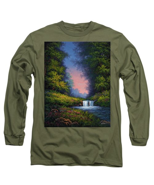 Long Sleeve T-Shirt featuring the painting Twilight Whisper by Kyle Wood