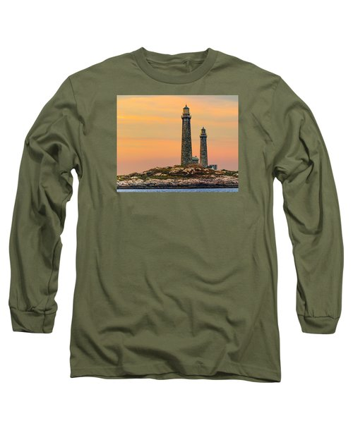 Twin Lights With Morning Glow Long Sleeve T-Shirt