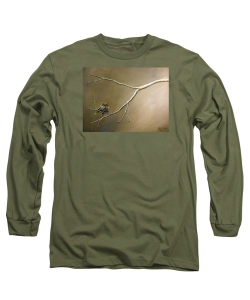 Two Birds On A Branch Long Sleeve T-Shirt