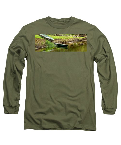 Two Boats Reflection 1024 Long Sleeve T-Shirt