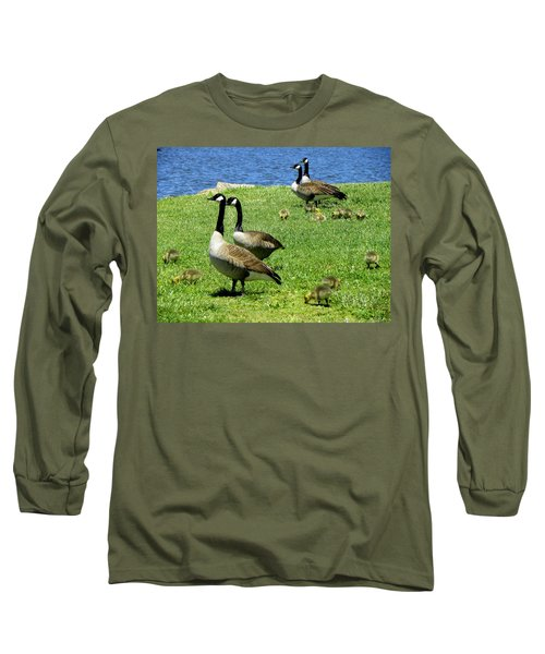 Long Sleeve T-Shirt featuring the photograph Two By Two  by Sandi OReilly