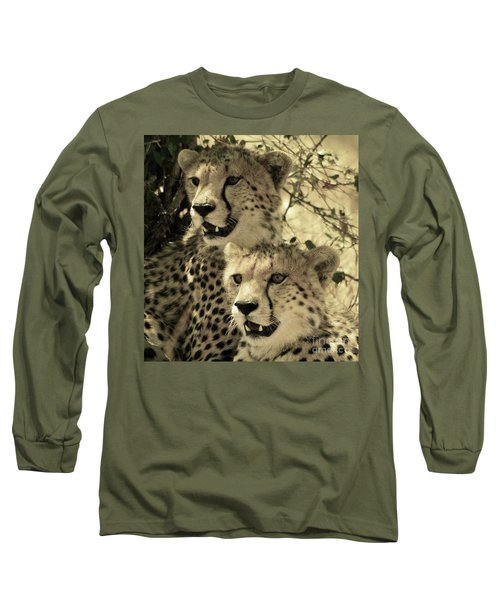 Two Cheetahs Long Sleeve T-Shirt