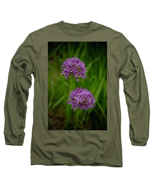Two Globes Long Sleeve T-Shirt by Tim Good