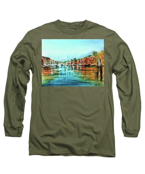 Two Harbors Catalina Morning Impressions Long Sleeve T-Shirt by Debbie Lewis