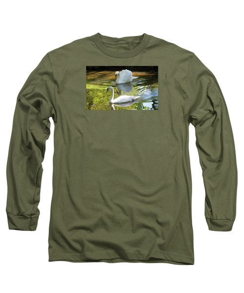 Two Swans On A Lake Long Sleeve T-Shirt