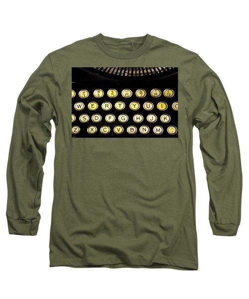 Long Sleeve T-Shirt featuring the photograph Typewriter by Christopher Woods