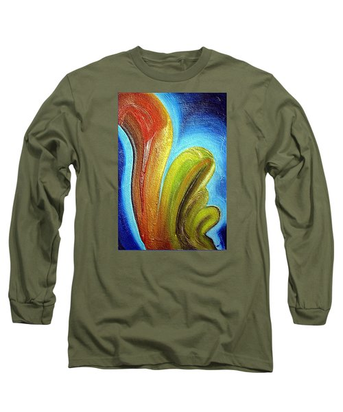Long Sleeve T-Shirt featuring the mixed media Tzunami by Dragica  Micki Fortuna