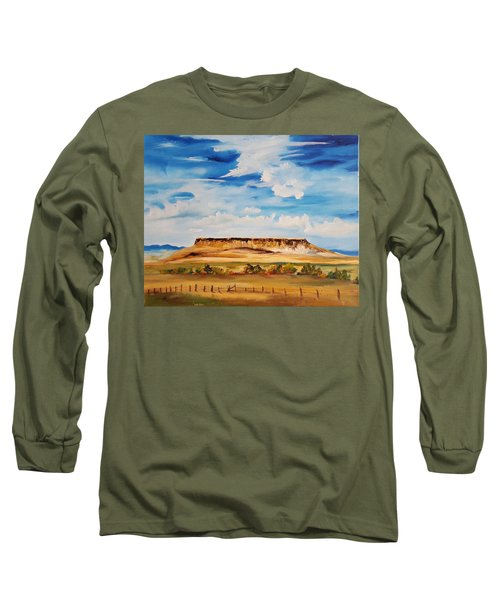 Ulm Montana First People's Buffalo Jump   93 Long Sleeve T-Shirt