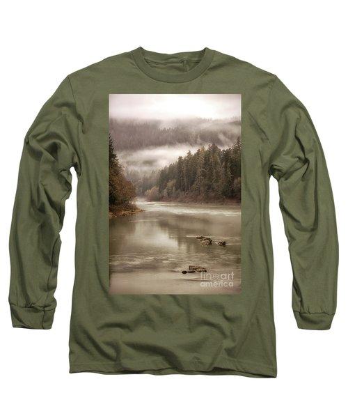 Umpqua River Fog Long Sleeve T-Shirt