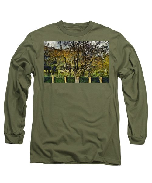 Un Cheteau Dans Le Paradis - One Of Two  Long Sleeve T-Shirt by Sir Josef - Social Critic -  Maha Art
