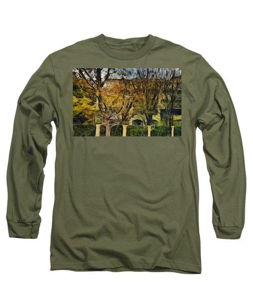 Un Cheteau Dans Le Paradis - Two Of Two  Long Sleeve T-Shirt by Sir Josef - Social Critic -  Maha Art
