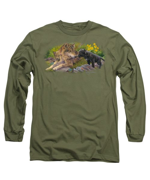 Unconditional Love Long Sleeve T-Shirt by Lucie Bilodeau