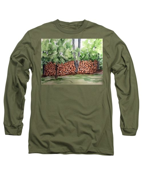 Under Hill Rd. Woodpile Long Sleeve T-Shirt