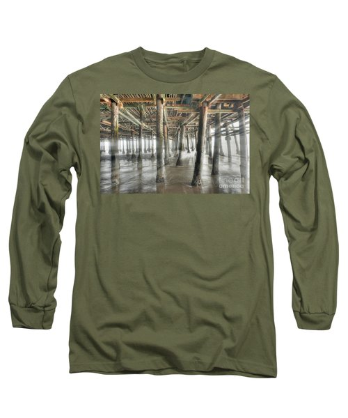 Long Sleeve T-Shirt featuring the photograph Under The Boardwalk Into The Light by David Zanzinger