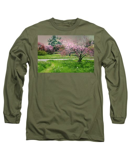 Long Sleeve T-Shirt featuring the photograph Under The Cherry Tree by Diana Angstadt