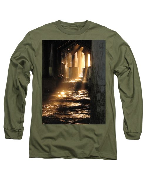 Under The Daytona Beach Pier 004  Long Sleeve T-Shirt