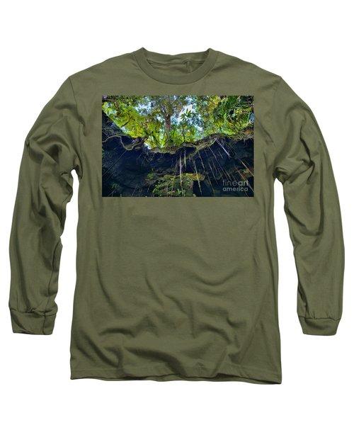 Long Sleeve T-Shirt featuring the photograph Underground by DJ Florek