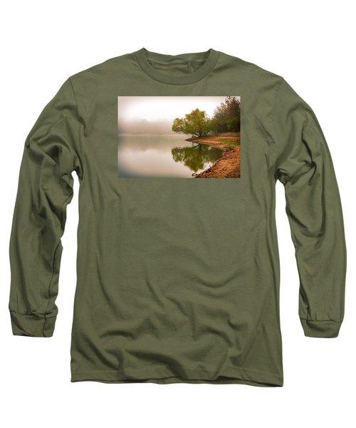Unger Park Lake At Dawn Long Sleeve T-Shirt by Robert FERD Frank