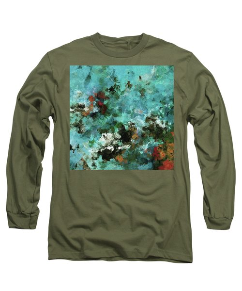 Unique Abstract Art / Landscape Painting Long Sleeve T-Shirt by Ayse Deniz